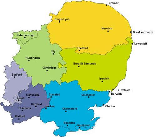 Map Of England East Anglia.About Us Clahrc Eoe